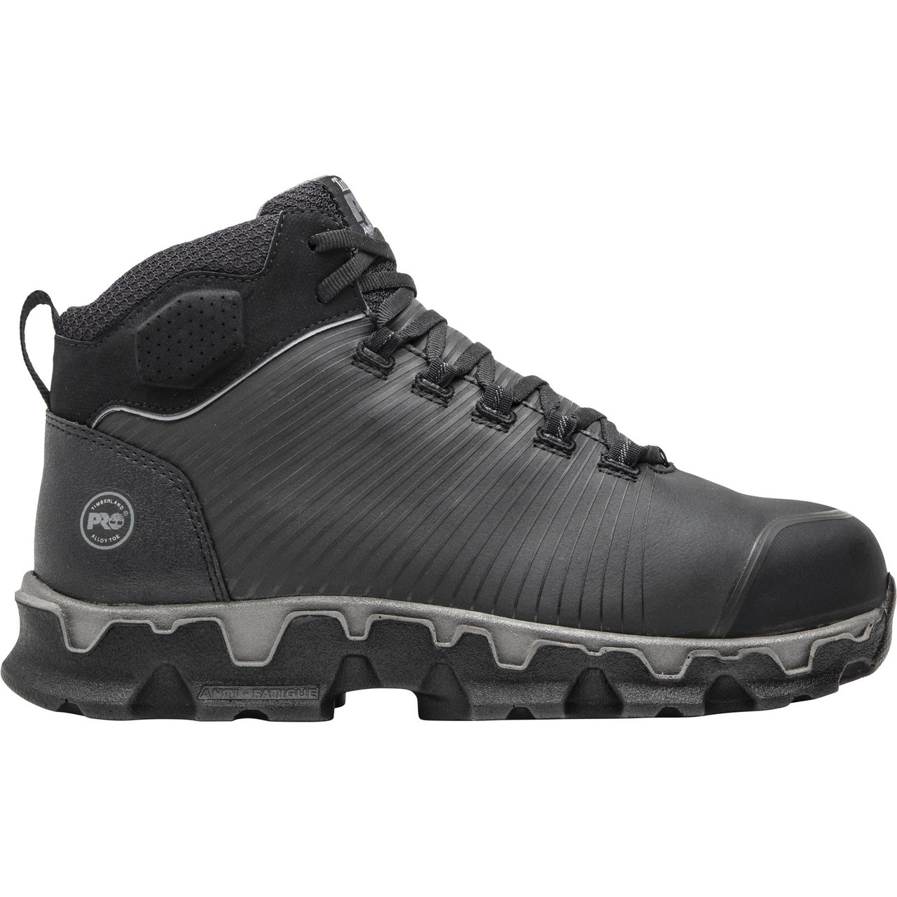 Black/Grey Mid Alloy Toe EH Work Shoes