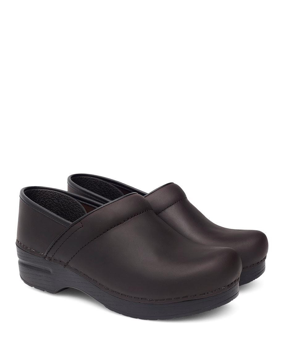 New DANSKO Mens Professional Antique Brown Oiled Leather Clogs Shoes 206780202**