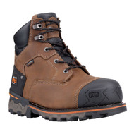 "Timberland PRO Boondock 92673 Mens Brown Leather 6"" Soft Toe Waterproof Boots"