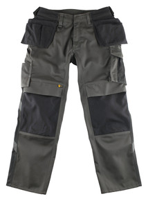 Mascot Bremen Tool Pocket Trousers In Dark Anthracite / Black
