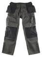 Mascot Bremen Tool Pocket Trousers In Dark Anthracite / Black