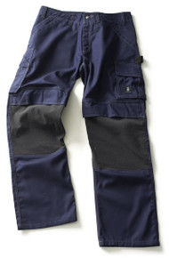 Mascot Lerida Trousers Kevlar Knee Pad Pocket - Navy Blue