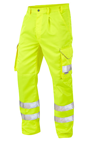 Great Quality Polycotton Hi Viz Cargo Trousers - Yellow