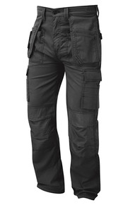 Merlin Tradesman Work Trouser, Multi Functional Hard Wearing Trouser - Graphite Grey