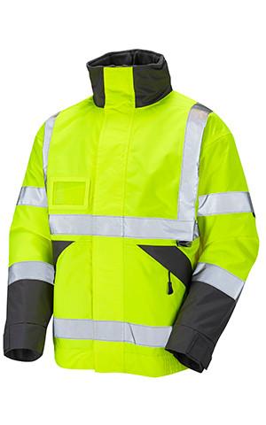 A Feature Packed Hi Viz Bomber Style Jacket