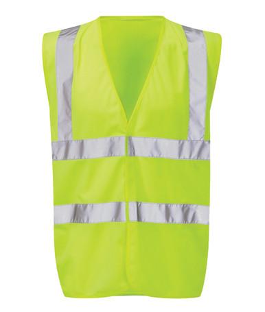 Contract Range Hi Viz 2 Band & Brace Waistcoat - Yellow
