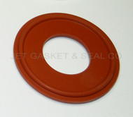 "1"" Red Silicone Tri-Clamp Gasket"