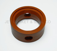 """Brewery Gaskets (metal Handle) Butterfly Valve Seat 2"""" Orange Silicone"""