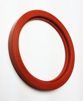 "SMS DN32 FLANGED GASKET 1.25"" ID SILICONE"