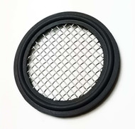 "Bonded Tri Clamp TC Style Screen Gasket 1.5"" Black Viton 10 Mesh 2000 Micron"