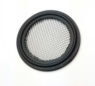 "Bonded Tri Clamp TC Style Screen Gasket 6"" Black Viton 50 Mesh 300 Micron"