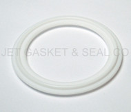 "12"" White Teflon 100% Virgin PTFE Tri-Clamp Gasket"