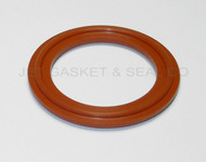"""5.0"""" Red Silicone Tri-Clamp Gasket"""