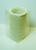 "3"" White Buna Tri-Clamp Gasket Box of 25"