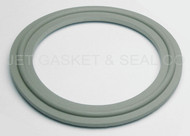 "1.5"" White Buna Metal Detectable Tri-Clamp Gasket"