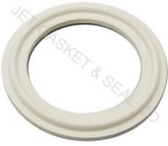 "6"" White Silicone Tri-Clamp Gasket"