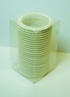 "4"" White Silicone Tri-Clamp Gasket Box of 25"