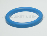 "DIN 11851 DN100 Style Gasket 4"" Blue Buna"