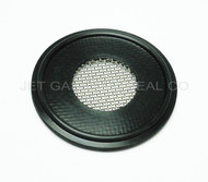 "Bonded Tri Clamp TC Style Screen Gasket 1"" Black Buna 20 Mesh 1000 Micron"