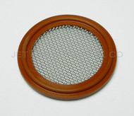 """Tri Clamp Screen Gasket 2.5"""" Red Silicone 120 Mesh"""