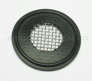 "Tri Clamp Screen Gasket 1"" Black EPDM 10 Mesh"