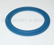 "2"" Blue Teflon 100% Virgin PTFE Tri-Clamp Gasket"
