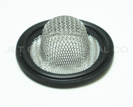 "1.5"" Tri Clamp Sock Screen Gasket Black Viton 16 Mesh .75"""