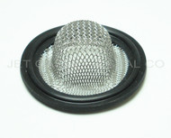 "2"" Tri Clamp Sock Screen Gasket Black Viton 16 Mesh .75"""