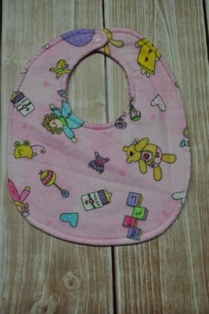 Baby Girl classic bib size small