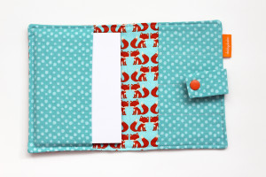 Foxes crayon wallet open view