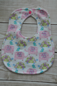 Elephants and Turtles classic bib
