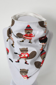Purely Canadian - Beavers bandana bib with bamboo back