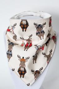 Purely Canadian - Moose bandana bib with bamboo back