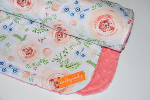 Summer Punch minky backed blanket.