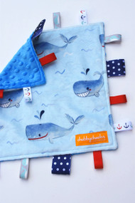 Light Blue Whales small tag blanket