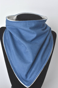 Denim Triangles bandana bib with bamboo backing