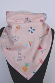 Life's A Beach bandana bib with bamboo back