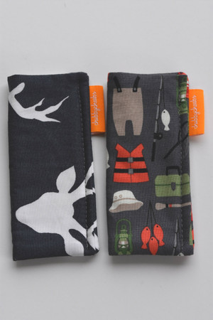 Buck and Fishing freezie cozy 2 pack