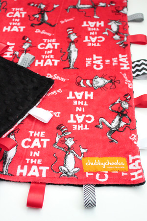 Cat in the Hat large tag blanket