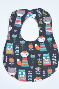 Forest Friends Navy classic bib