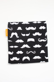 Mustaches reusable snack bag