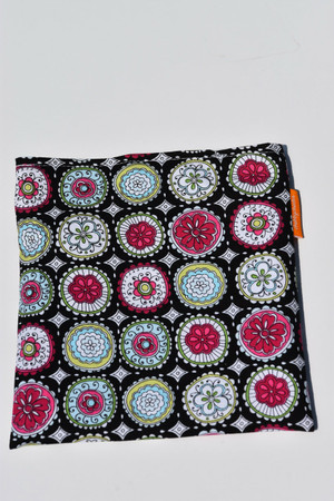Floral in circles snack bag