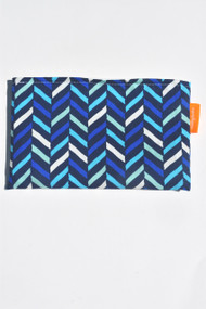Shades of Blue Herringbone small snack bag
