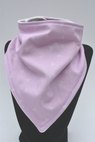 Light Mauve with triangles bandana bib