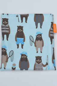Blue Fishing Bears snack bag