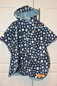 Blue dots car seat poncho