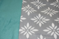 Grey Pattern with teal