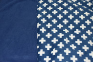 Car Seat Poncho - Pre-order Blue Crosses