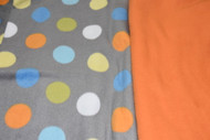 Grey Coloured Dots with orange inside