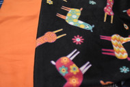 Llama with orange backing